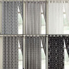 Lusaka Shiny Thermal Blackout Curtain Panels with Sparkle Geometric Element