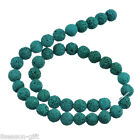 1Strand 8/10/12/14mm Blue-Green Volcanic Bead For Fashion Bracelet&Necklace