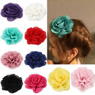 3 Inch Chiffon Flower Hair Clips Fabric Rose Hair Bows For Baby Girls Party