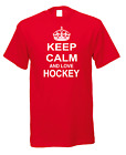 Keep Calm And Love Hockey Stick Puck Goal Player Game Sport T-Shirt