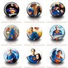 9-45PCS Superman Round Buttons Brooch Pins Badges 30mm for Kids Party Best Gift