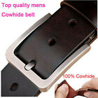 "New Top quality classic Mens Belt 100% Genuine Leather Belt Waist Size 30""-54"""