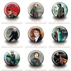 9-45PCS Harry Potter Round Brooch Button Badge Pin 30mm for Kids Party Best Gift