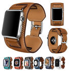 3 in1 Herme Cuff Genuine Leather watch Band Wrist Strap For Apple watch iwatch
