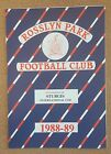 PROGRAMME Non League ROSSLYN PARK Football Club (Rugby) Programmes - VARIOUS