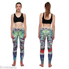Fashion Women Hollowed Breathable Floral Fitness Sports Capris Pants Trousers