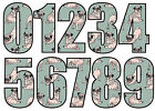 Wheelie Bin Numbers Stickers Custom House Number Sticky 18cm Large Dog Pug Print