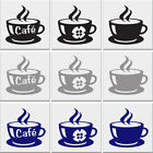 Coffee Cup Tile Stickers Kitchen Sticker Cups Vinyl Wall Transfer Decal 63x65mm