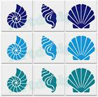 Sea Shell Tile Stickers Bathroom Seashell Nautical Sticker Vinyl Wall Art Ad88