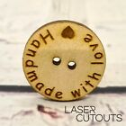 MDF or Plywood Personalised Wooden Buttons - Wedding, Sewing, Crafts Accessories