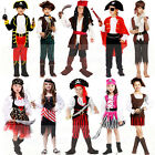 Childrens Kids Pirate Girls Fancy Dress Costume Jack Buccaneer Halloween Outfit