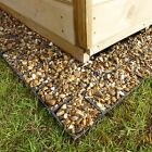 GARDEN SHED BASE FULL KIT + GEOTEXTILE MEMBRANE ECO SLAB GREENHOUSE BASE GRID