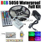 5M SMD 5050 RGB Waterproof 300 LED Strip Light +44 Key Remote+12V Power Full Kit