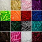 "Crushed Velvet Velour Fabric Material - Polyester - 150cm (59"") wide, 16 Colours"