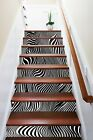 3D Black White Line Stair Risers Decoration Photo Mural Vinyl Decal Wallpaper US