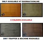 Dirt Trapper 50cm x 75cm Washable Absorber Door Mat 4 COLOURS with a Paw Print