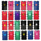 Kids Superhero Football Training Bibs Vests Soccer Rugby Basketball Netball