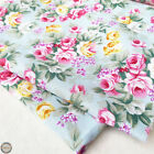 Rose Flower Floral Prints Fabric Cotton Like Quilting Craft Sewing By The Yard
