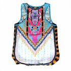 US Summer Wome's Bohemia Vest Tank Sleeveless Shirt T-Shirt Tops Casual Blouse