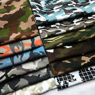 Camouflage Military Army Prints Camo Fabric Cotton Like Clothing Quilting Yard