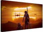BB8 & Rey Force Awakens Star Wars Various Sizes - Canvas Wall Art Picture Framed