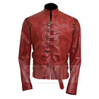Men's Nikolaj / Jaime Lannister Game of Thrones Inspired Red Leather Jacket
