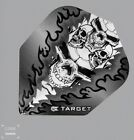 Target Pro100 Xtra Strong Quad Skull Design Std Shape flights Black 1x3or5x3 Pa