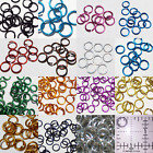 1/4 18g Anodized Aluminum JUMP RINGS 100 SAW CUT Chainmail chain mail