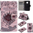 Skull Tower Bear ID Wallet Leather Flip Case Cover For Motorola Moto G4 G5 Plus