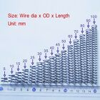 Wire Dia 0.9mm OD 6 - 9mm Length 10 to 100mm Helical Compression Spring Select