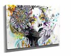 Large Canvas Wall Art Print Picture Abstract Woman Flowers Colourful  ZY50