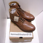 NEW LEVIS MENS ANKLE LEATHER SHORT BOOTS SHOES BROWN SIZE 9