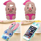Pig Judy3D Cartoon Disney Soft Silicone Rubber Gel Cover Case For iPhone Samsung