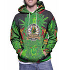 Baph Cannabis Ganja Rasta Men's Zipper Hoodie Full Print