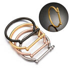 New Vintage Jewelry Fashion Couples Love Titanium Steel Screw Bangles Bracelets