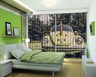 3D Green Car Blockout Photo Curtain Printing Curtains Drapes Fabric Window US