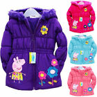 Peppa Pig Girls' Pink Puffa Nursery/school Coat Hooded Jacket Winter Coat·