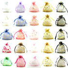 25/100 Organza Gift Bag Christmas Party Jewellery Packing Pouches Wedding Favour