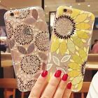 For iPhone 7 6S 6 Plus Fashion Sunflowers Pattern Girly Cute Case Soft TPU Cover