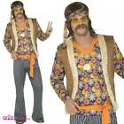 Mens Womens 60s 60s Hippie Singer Groovy Retro Adult Fancy Dress Costume Outfit