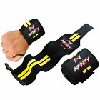 """14"""" Long 3"""" Wide Sports Weight Lifting Gym Training Wrist Wrap Exercise Straps"""