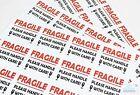 """""""FRAGILE PLEASE HANDLE WITH CARE"""" labels / stickers 12 per sheet! Perm Adhesive"""