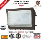 Dusk to Dawn LED Wall Pack lights 65W, 90W, 120W, 135W Outdoor Commercial 5700K