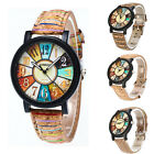 Fashion Womens Stainless steel Leather Watch Analog Quartz Vogue Wrist Watches image