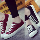 Fashion Women Low Top Casual Canvas Sneakers Sport Running Athletic Flat Shoes