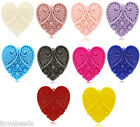 5PCs Carved Flower Heart Charm Resin Pendants DIY Accessories 5x4.5cm