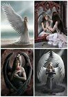 FANTASY GOTHIC ANGEL BLANK GREETING CARDS - ANNE STOKES