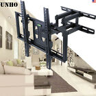 "UNHO Flat Panel TV Wall Mount Full Motion Swivel LCD LED 3D TVs 32""-56"" Dual Arm"