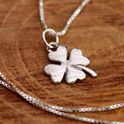 925 Sterling Silver Necklace Irish Shamrock Clover Pendant Hallmarked Lucky Gift