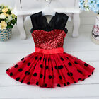 Girl Minnie Mouse Polka Dotted Tutu Skirt Princess Ladybug Party Dress [K37]